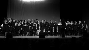Conducting AUMO choir 2011