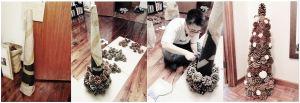 Making the PineCone Christmas Tree