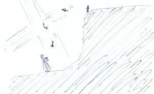 Falling to Jesus
