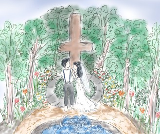 JK Fountain Cross